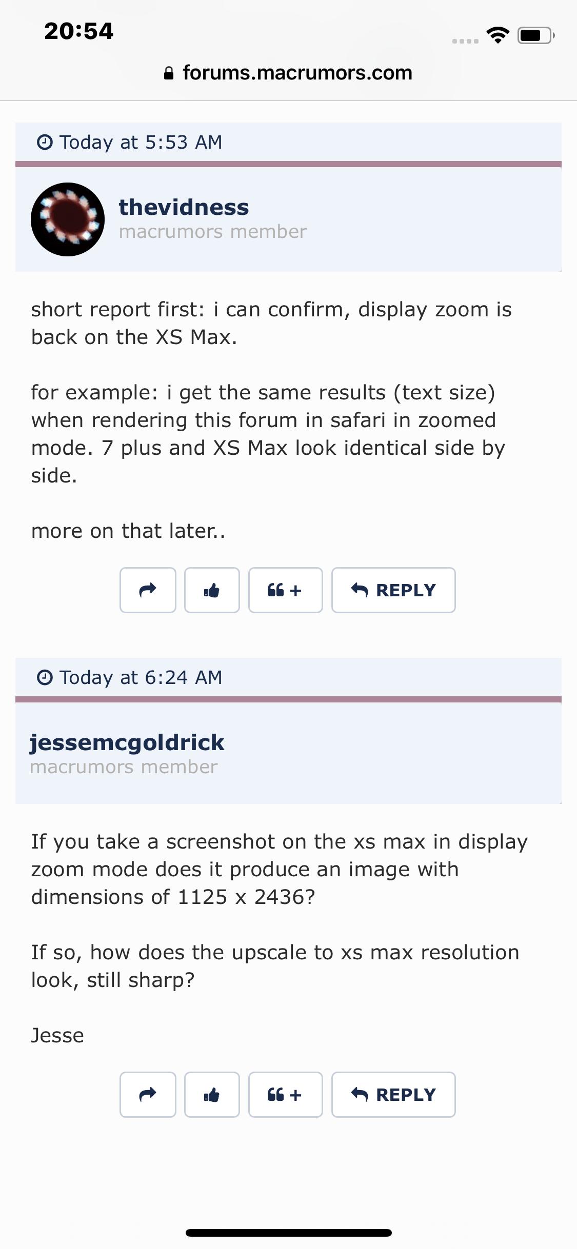 Display Zoom View iOS 12 | Page 2 | MacRumors Forums