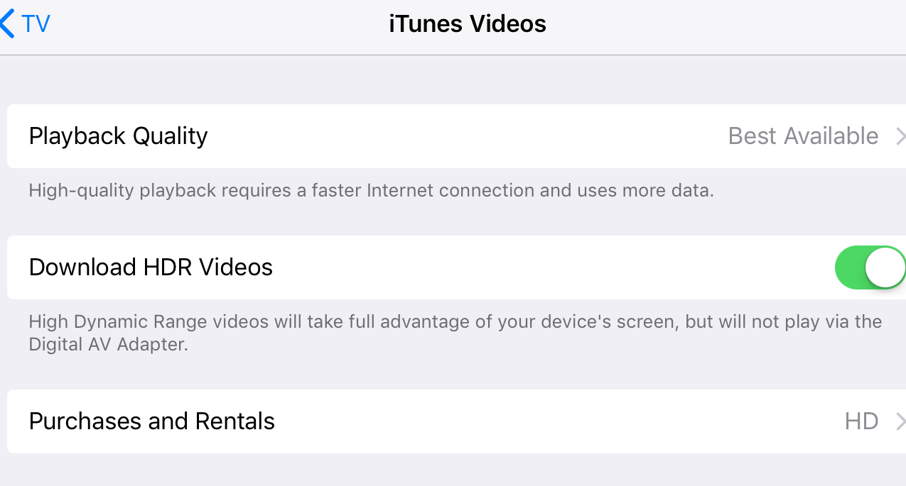 iPad Pro - How do you know you are watching HDR? | MacRumors Forums