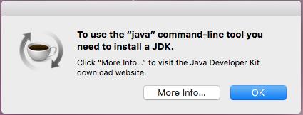 java version command