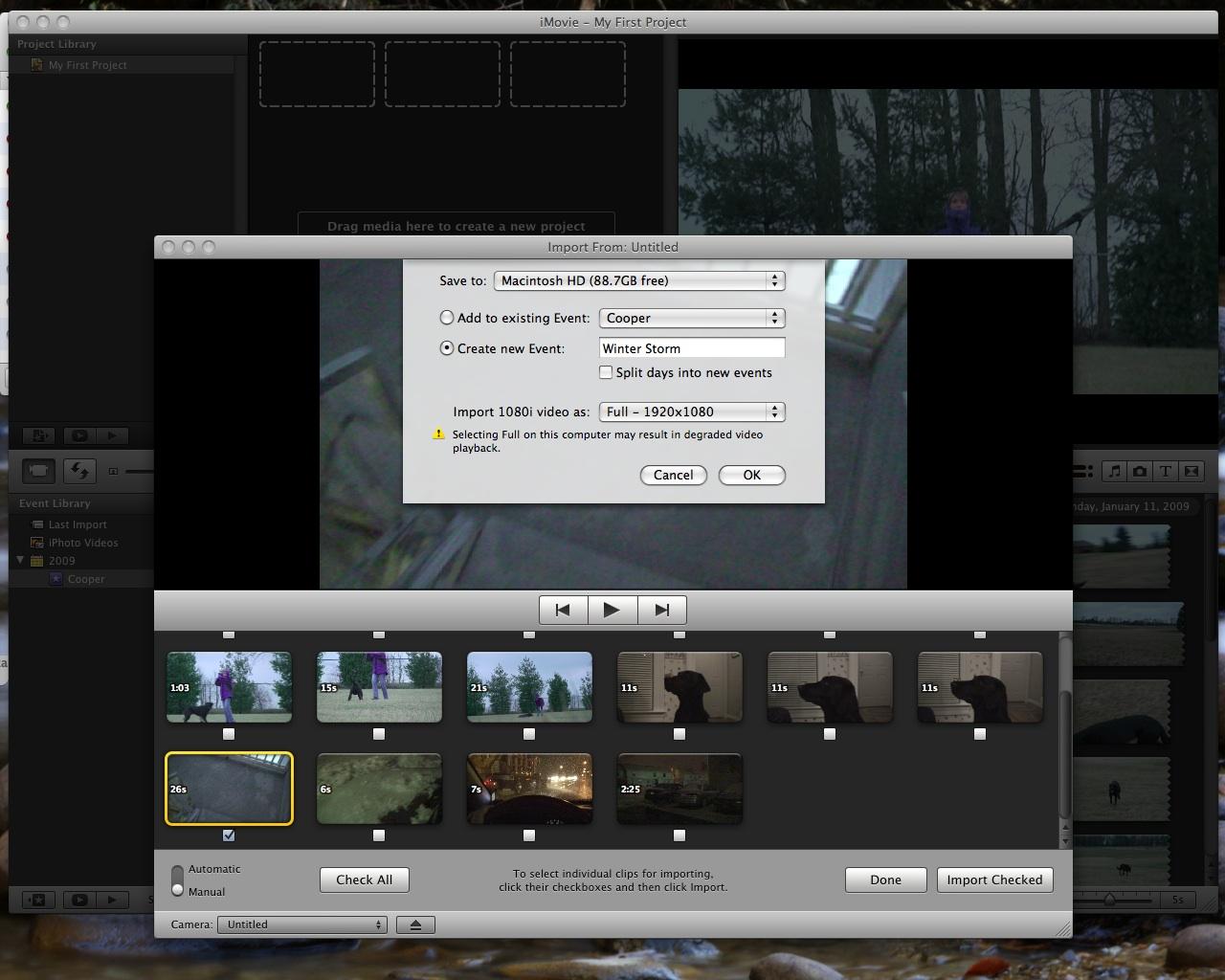 iMovie '09 HD Support? | MacRumors Forums