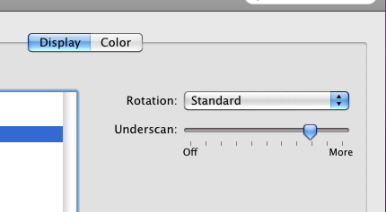 OS X to finally get proper under/overscan correction