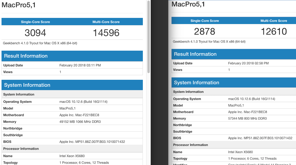 PC3-8500R 4Rx4 DDR3 ECC Reg Memory for Apple Mac Pro Mid 2010 5,1 48GB 3x16GB