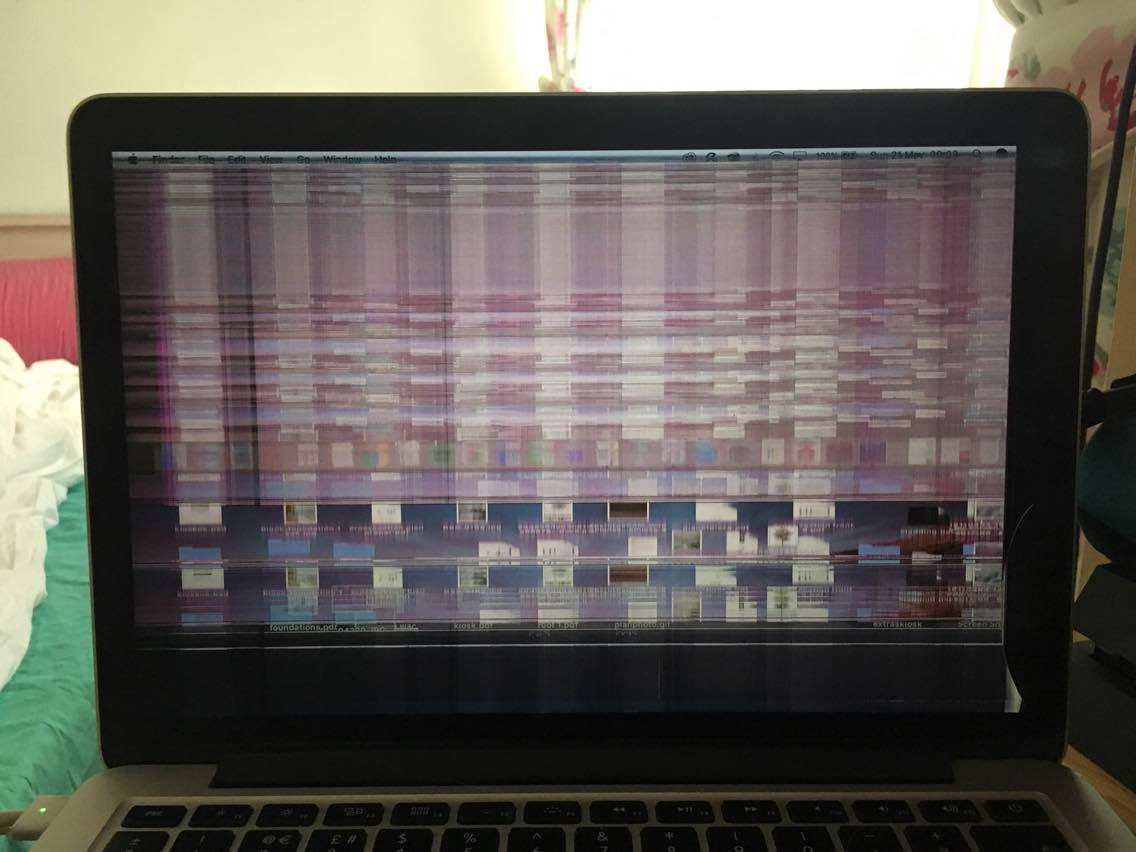 Messed up my macbook pro retina (2015) display and more