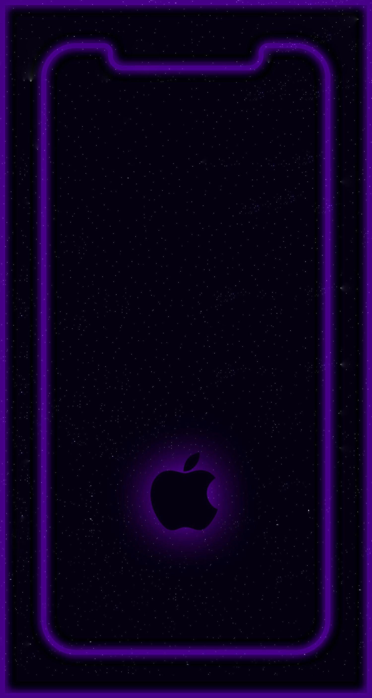 Neon Iphone X Outline Wallpaper
