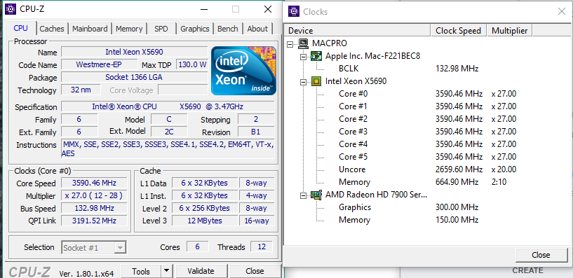 Interesting: The 5,1 doesn't run a 3 46GHz at full speed