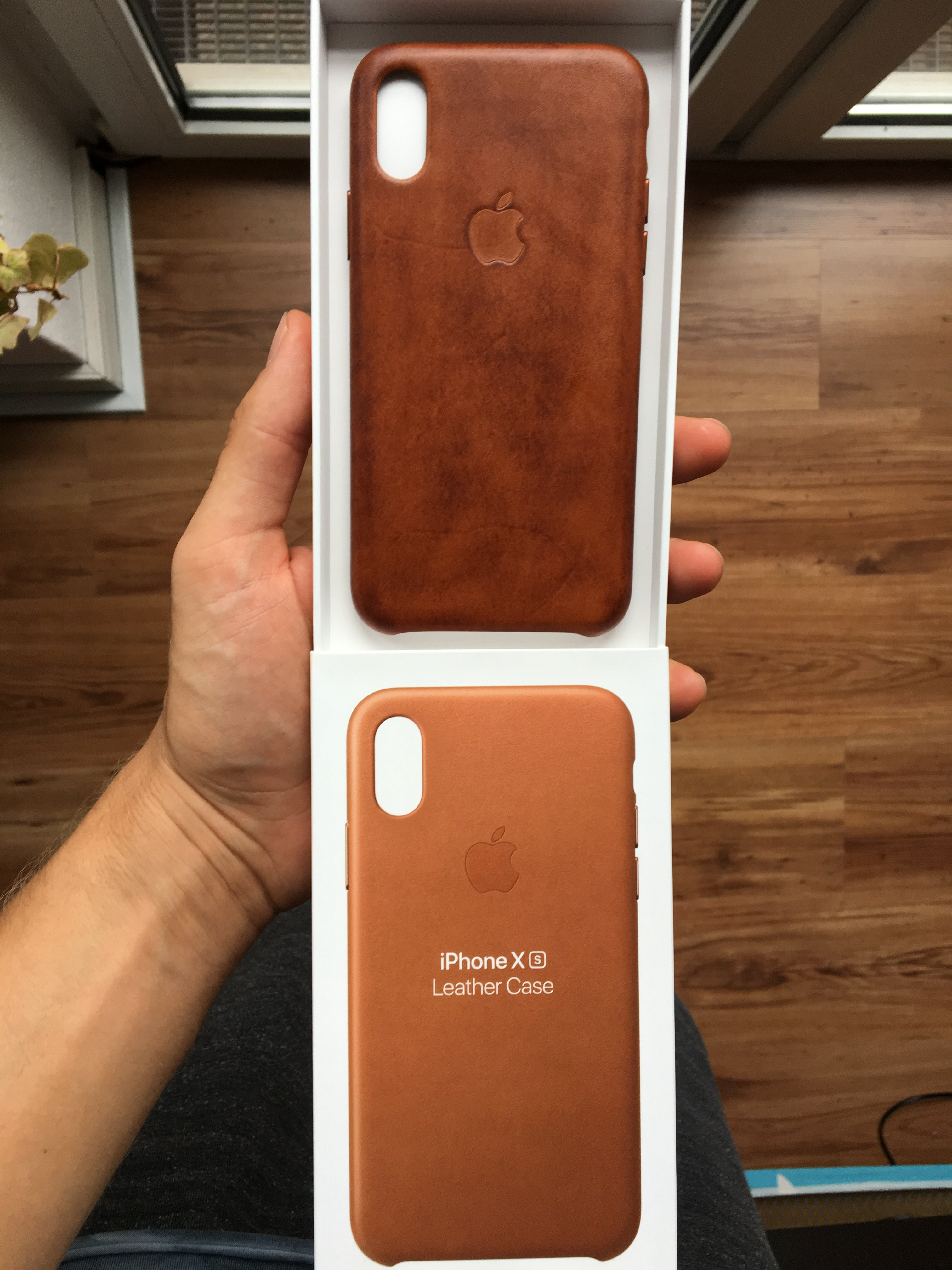 iphone xs case brown leather