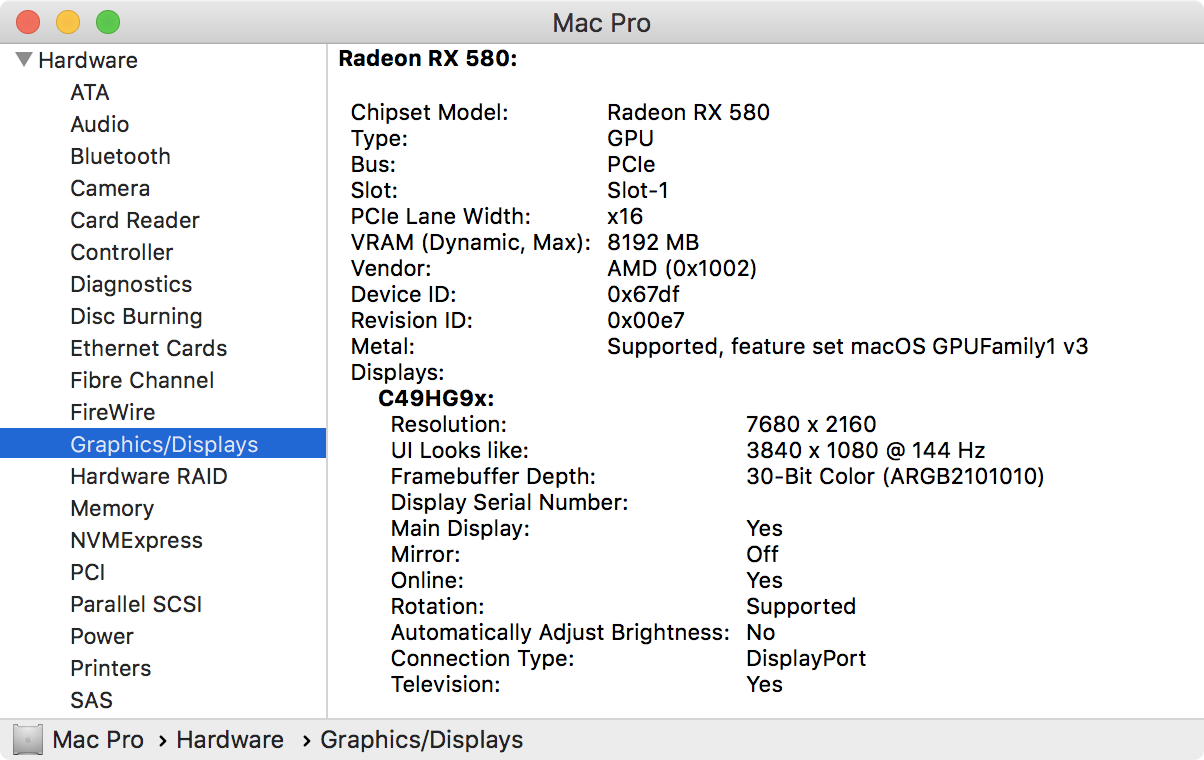 official Mojave Mac Pro Metal GPU card list finally | Page