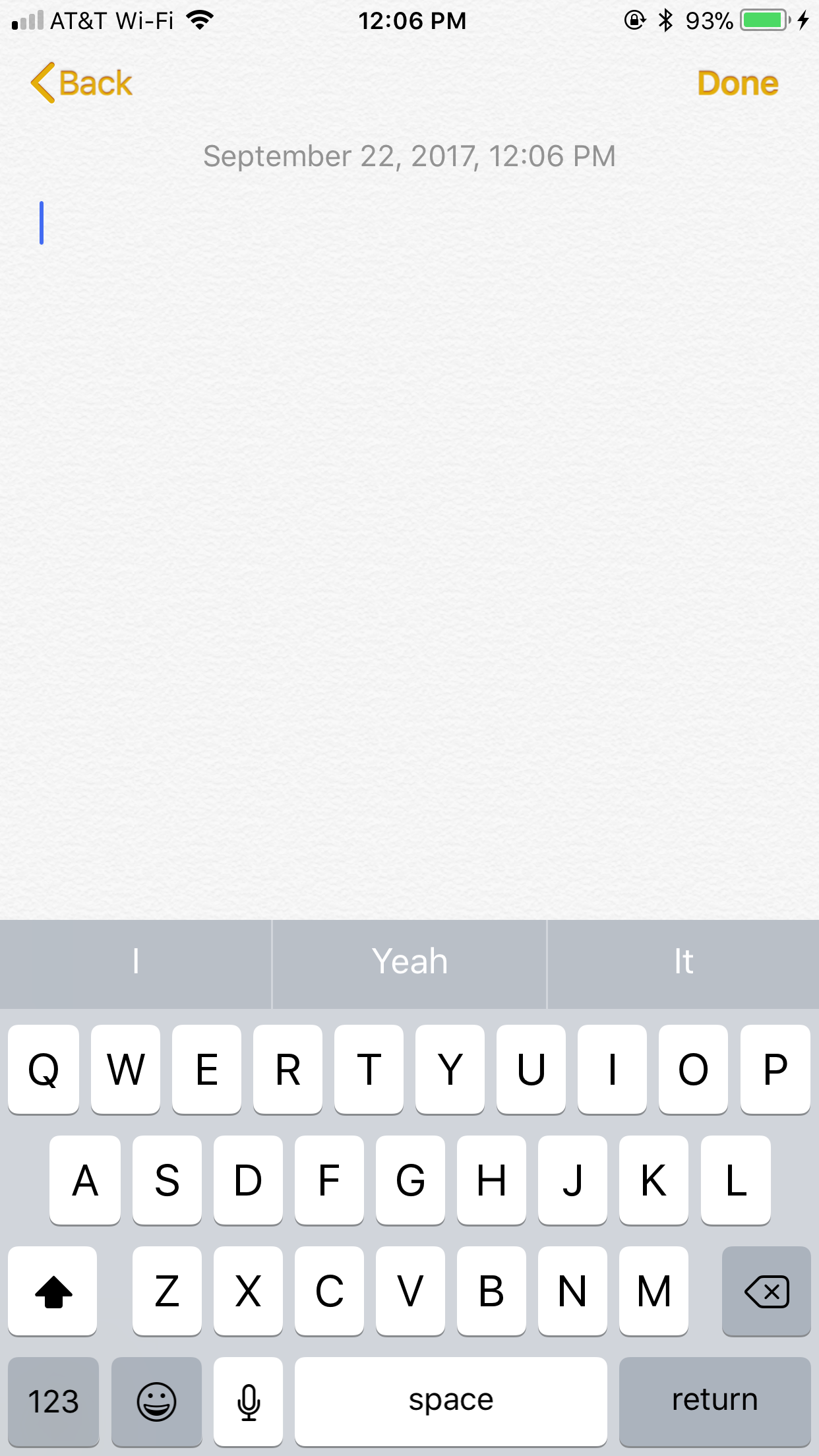 I Dont Have This Option In My Notes App After Creating A New Note On IPhone 6s IOS 11 There Is No Above The Keyboard