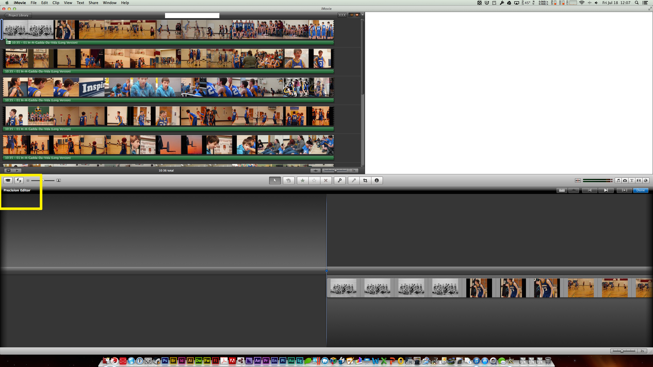 iMovie 11 - Impossible to export a selection / clip