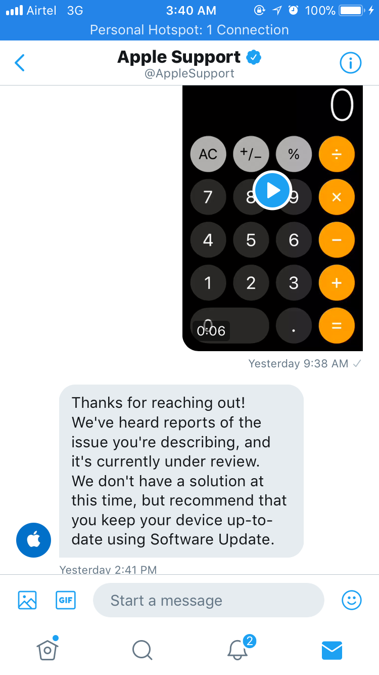 General - iOS 11 No Fix Yet For Calculator Bug According To