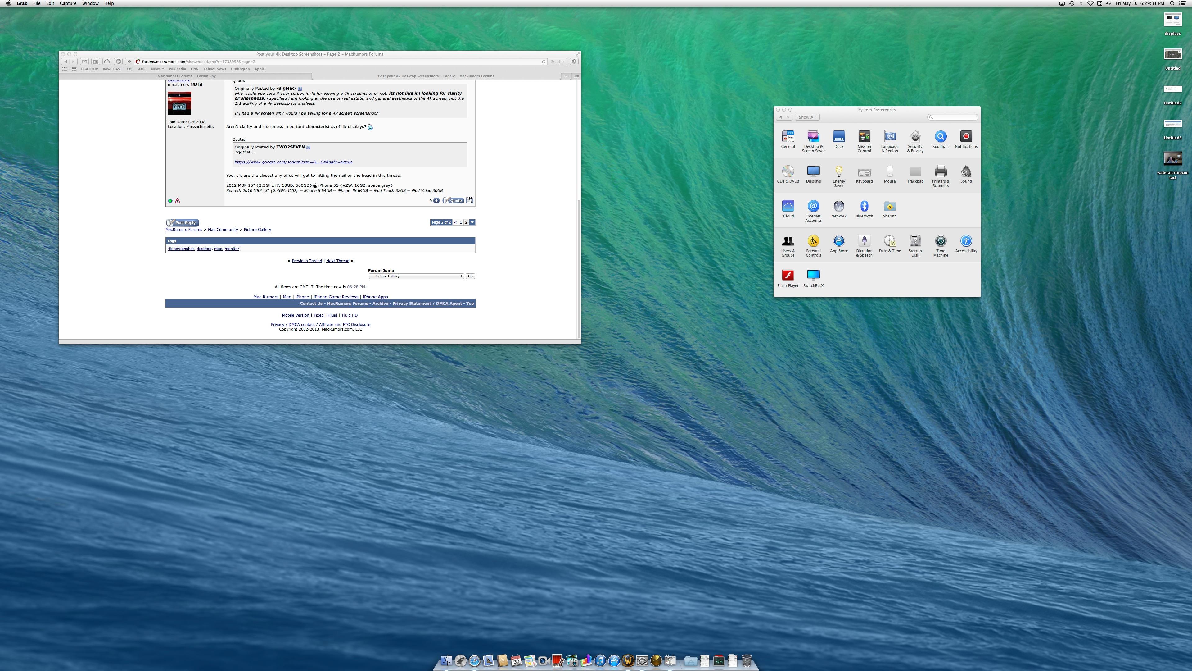 Post your 4k desktop screenshots macrumors forums 4kdisplayg ccuart Choice Image
