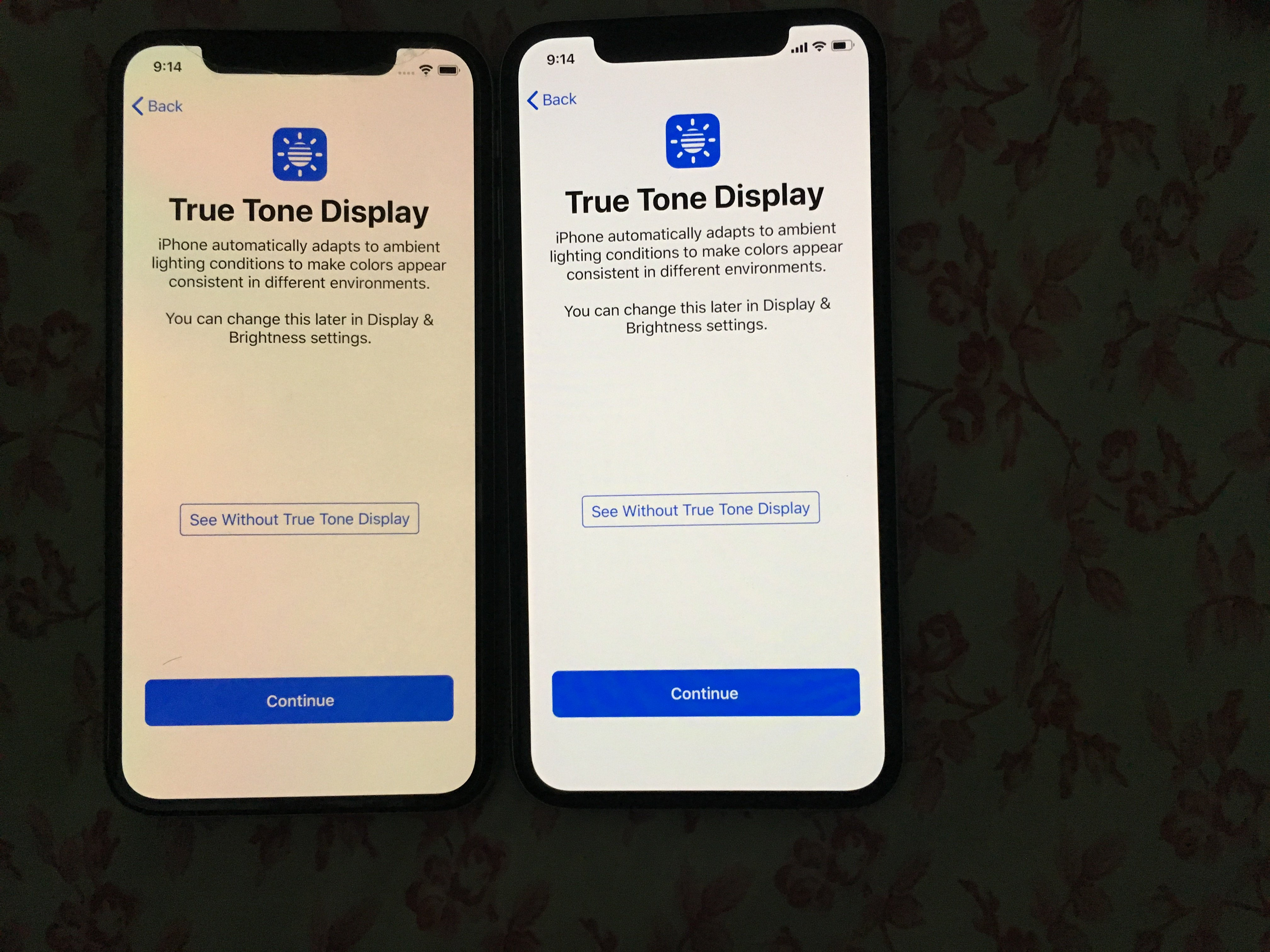 iPhone XS display is a downgrade from the X in terms of