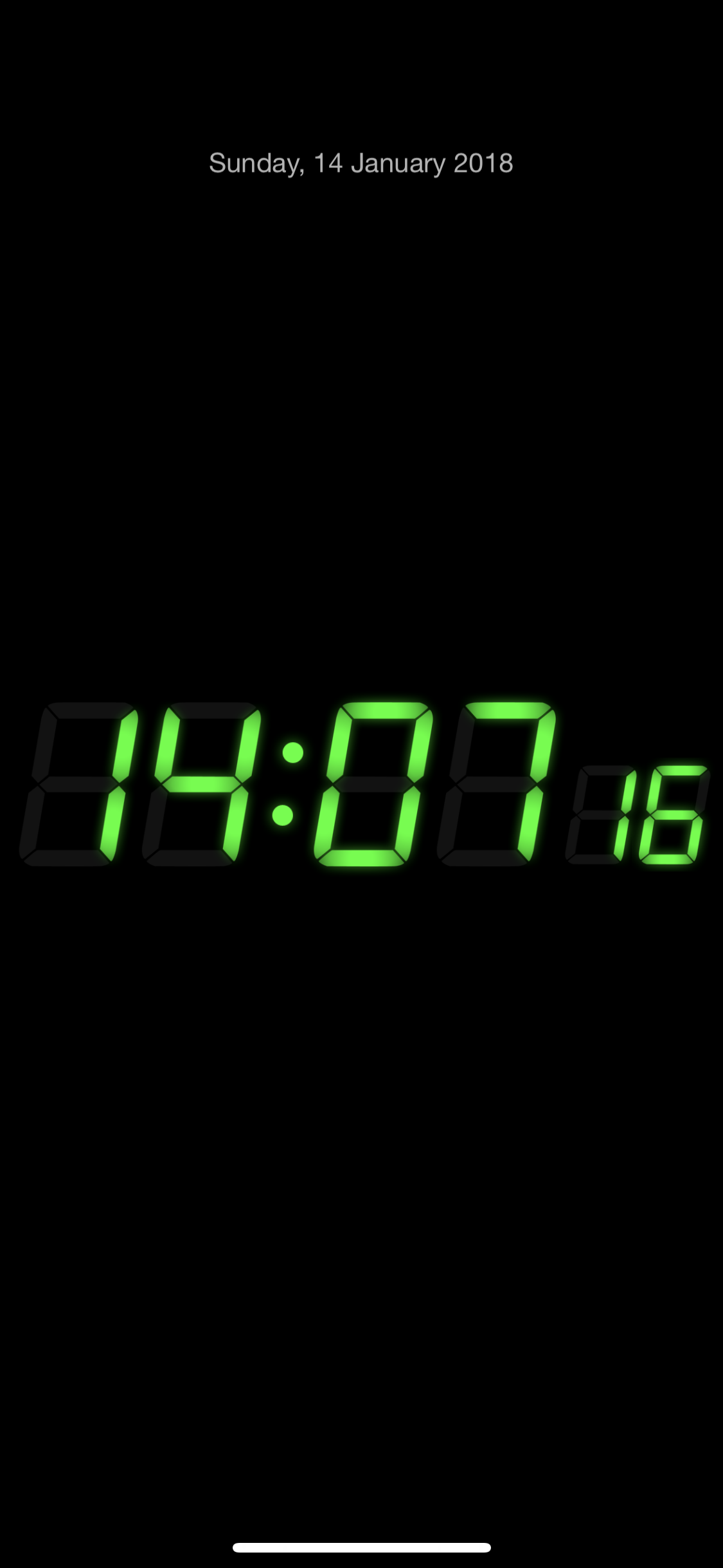 iPhone X iPhone X as nightstand clock