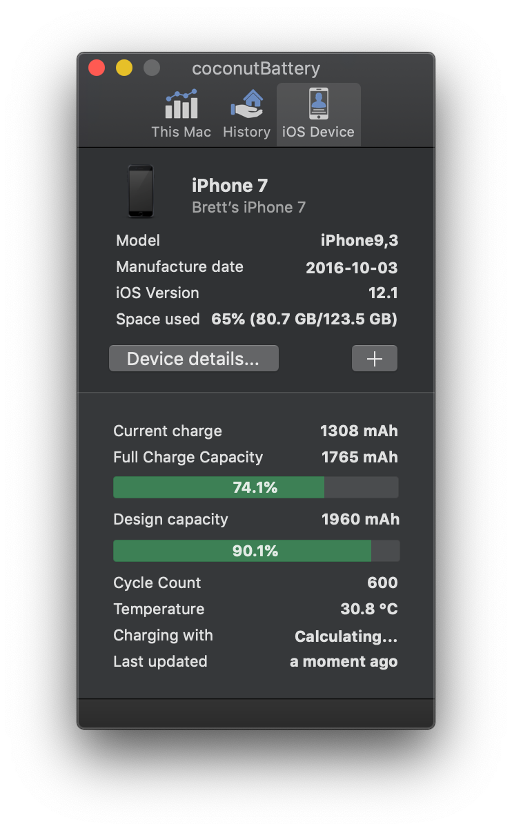 Iphone 7 Battery Health And Cycle Count Macrumors Forums