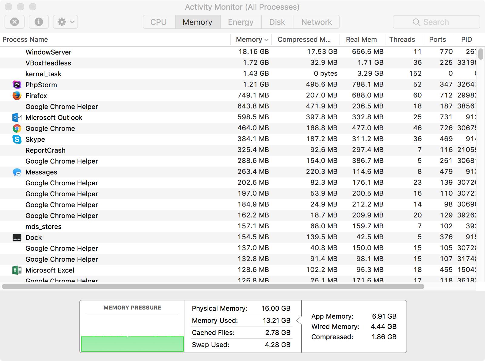 WindowServer taking unholy amount of RAM in 10 13
