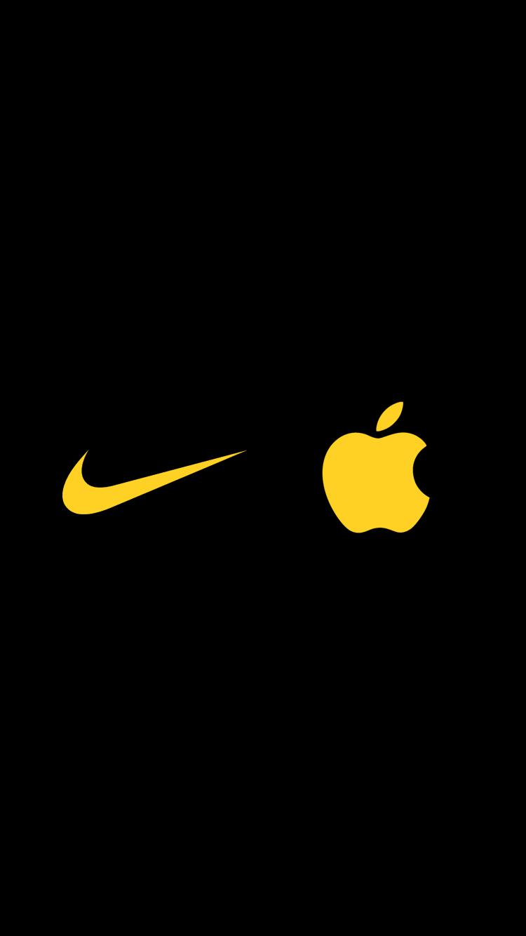 black yellow nike symbol