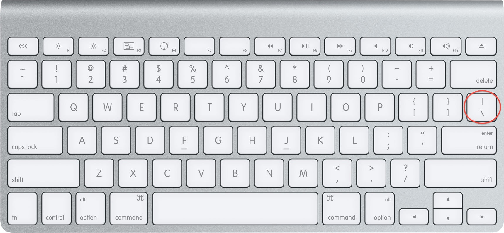 mac os x tastatur pipe
