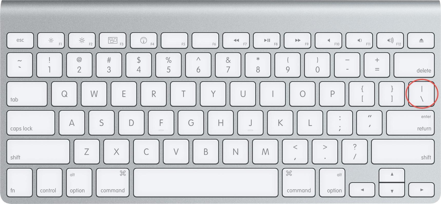 Pipe Key On Wireless Keyboard Macrumors Forums