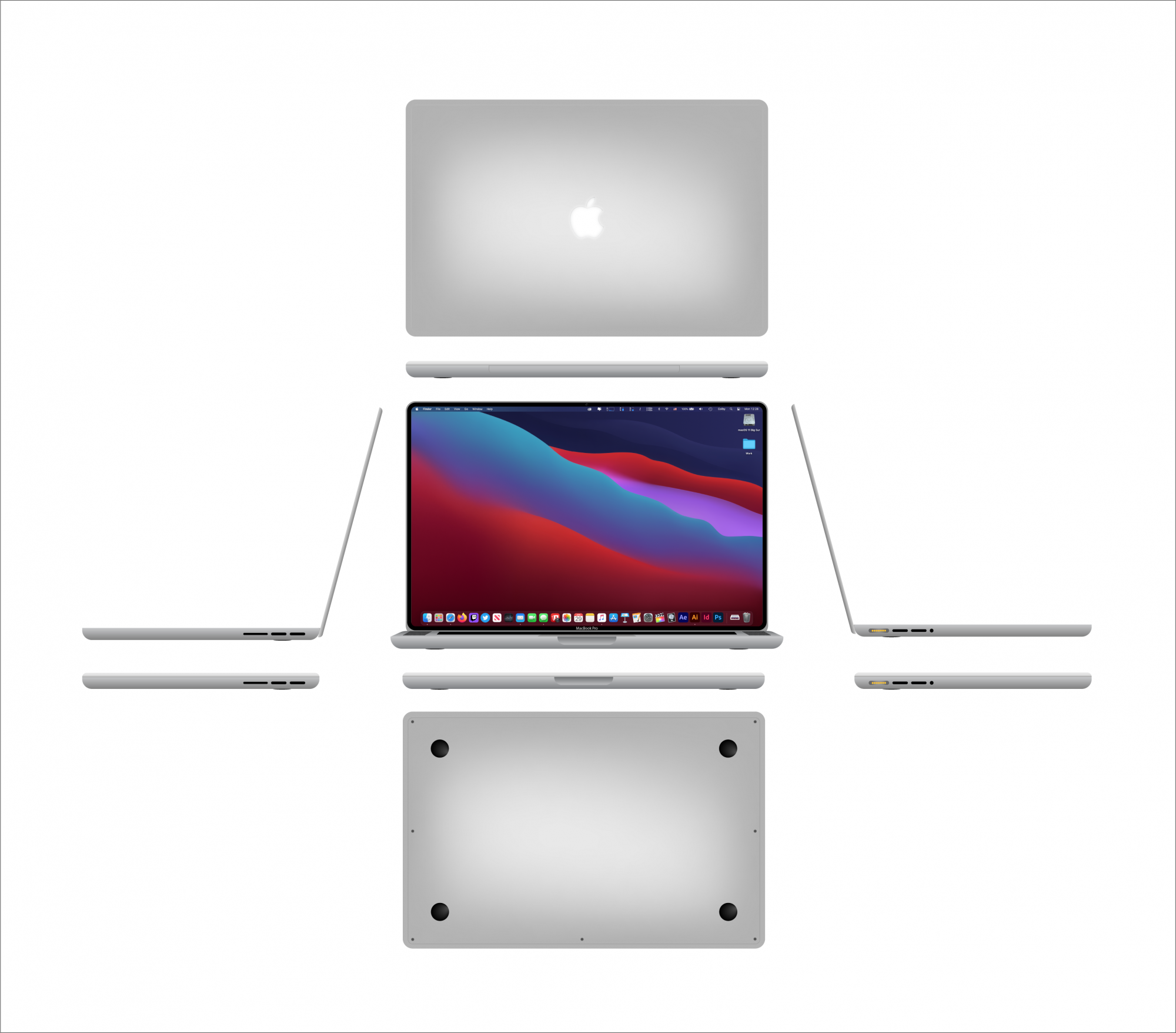 "2021 MacBook Pro 16"" Concept Design I created on Adobe ..."