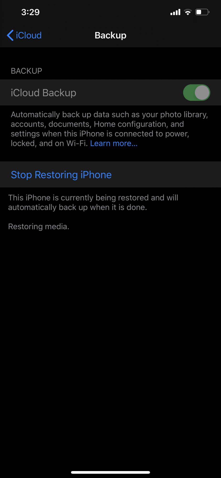 Why is my restore from iCloud back taking so long | MacRumors Forums