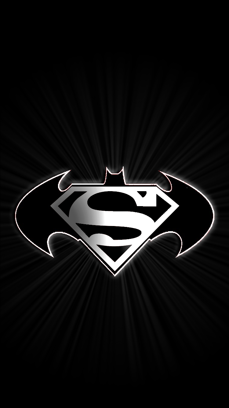 batman superman logo iphone wallpaper wallpaper sportstle