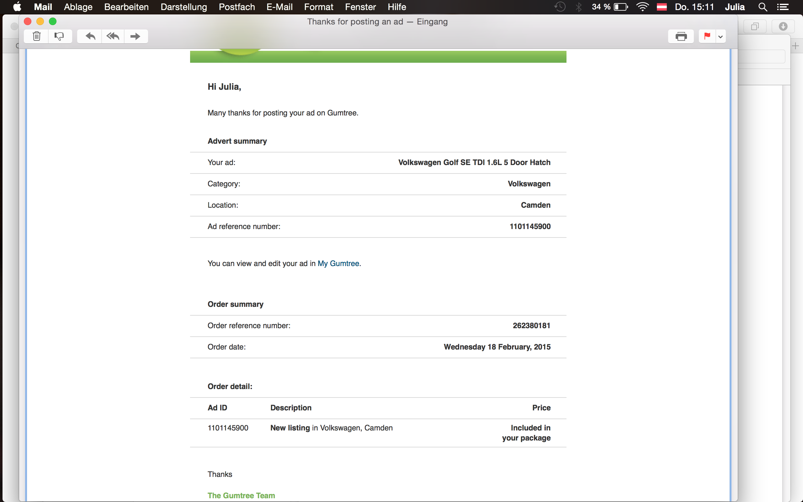 Mystery: Hacked on Gumtree?? | MacRumors Forums