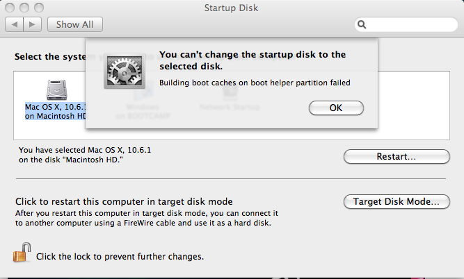 Updating boot caches os x