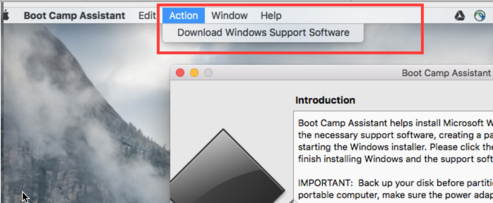 download bootcamp windows 10 macbook air