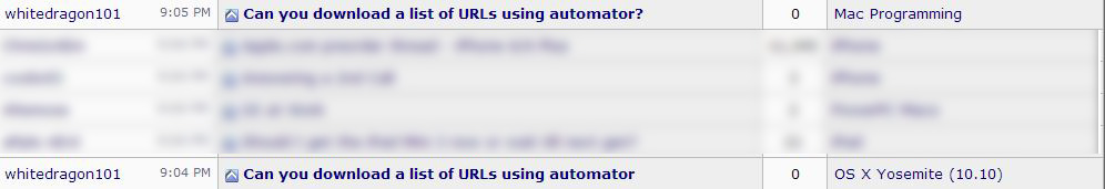 Can you download a list of URLs using automator? | MacRumors