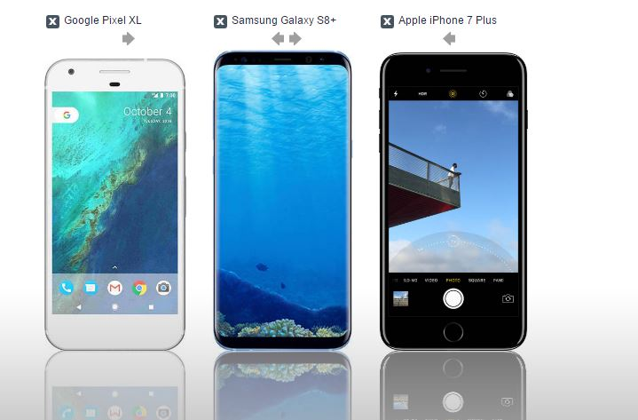 Compare Phones Side By Side >> S8 Iphone 7 Plus Side By Side Android Forums At Androidcentral Com