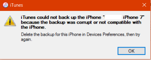 can't backup (corrupt or not compatible) | MacRumors Forums