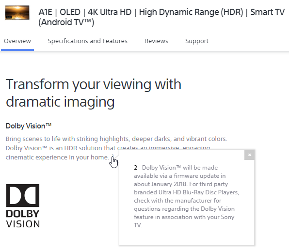 Dolby Vision on (USA) Bravia TV with ATV 4K   MacRumors Forums