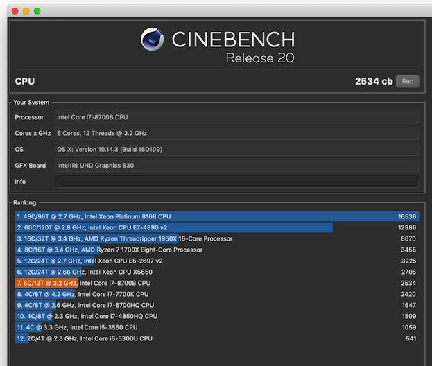 Long awaited Cinebench R20 released | MacRumors Forums