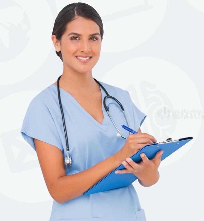 composite-image-smiling-nurse-writing-against-beige-66225485.jpg