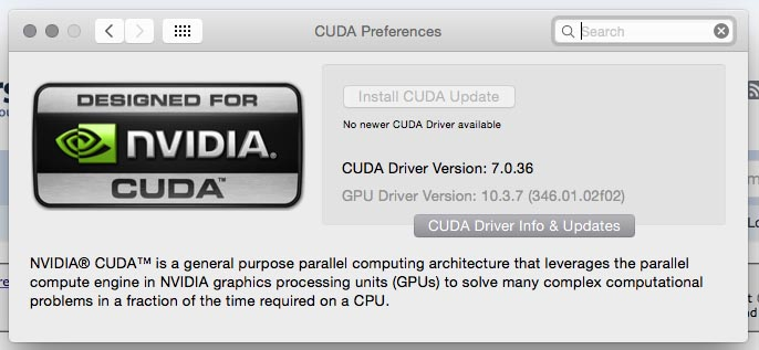 Unflashed GTX 970 Running on OS X Default Driver Mac Pro 5,1