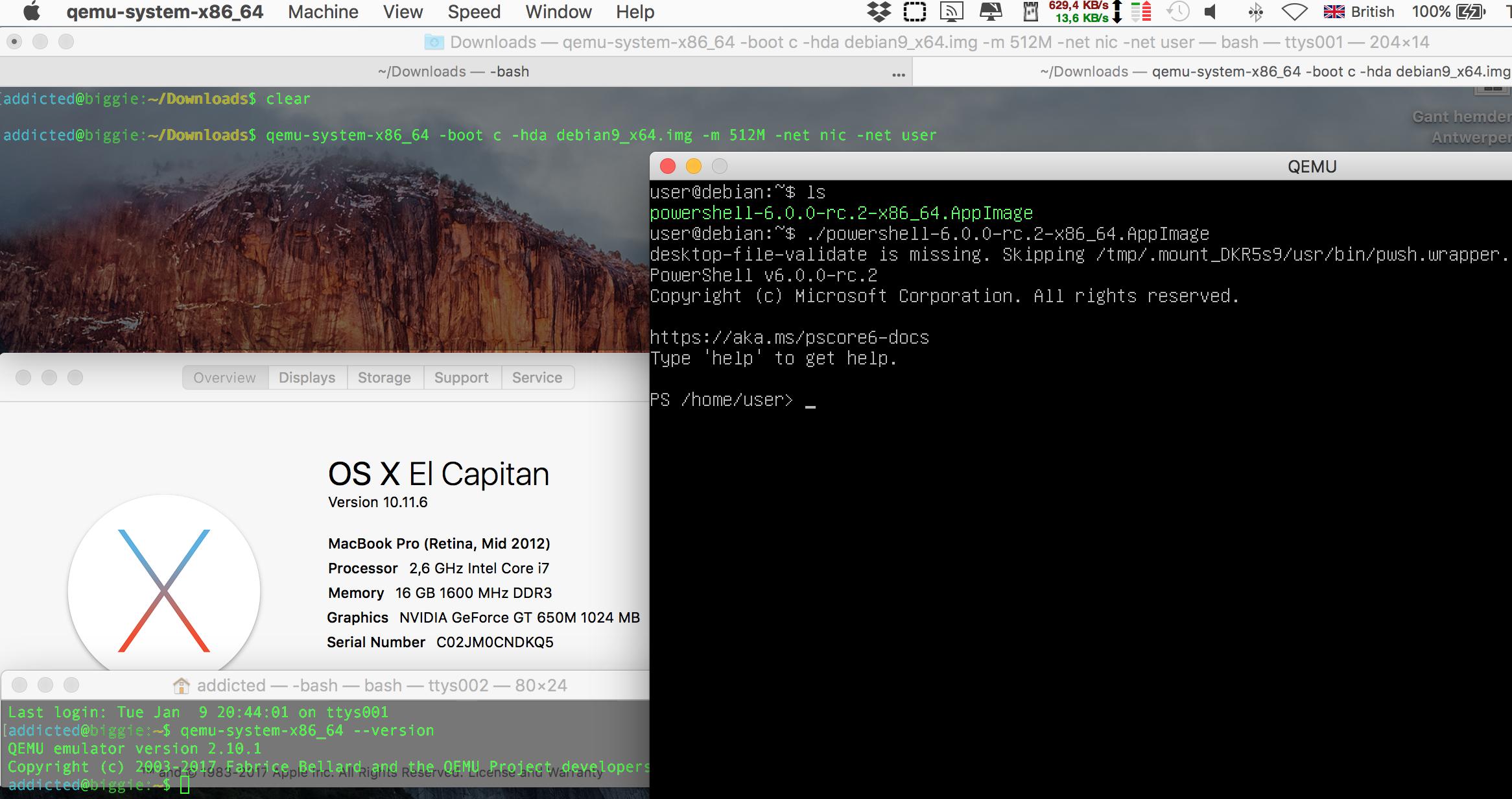 Day 9 MBp Qemu Debian Powershell.png