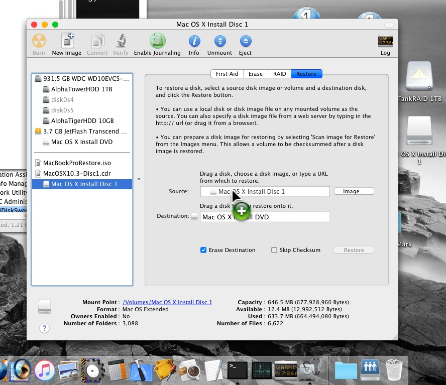 Installing OS X without using a CD | MacRumors Forums