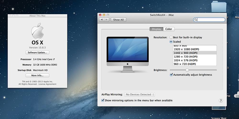 Updated - Turtorial] Non 2x Custom Hidpi Mode on Macs