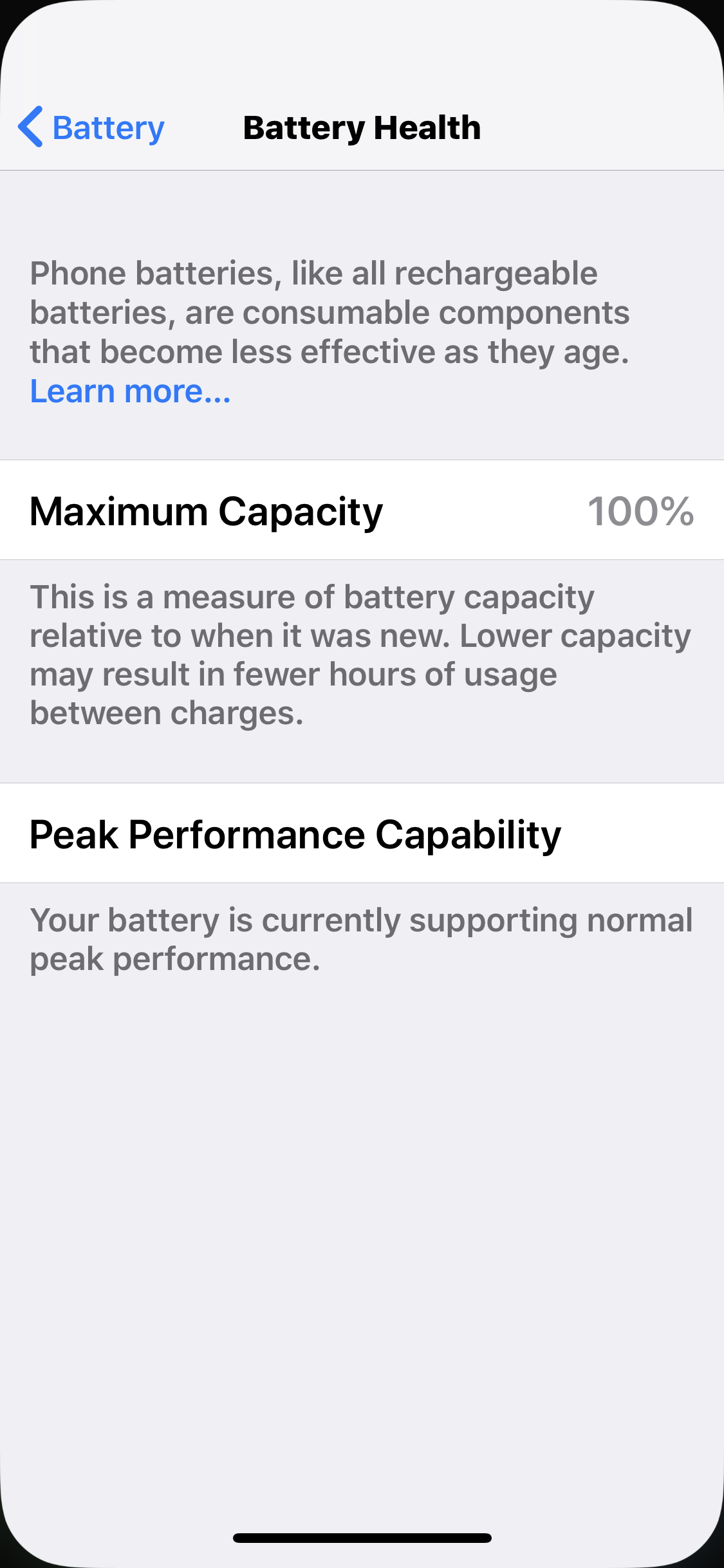 Battery Heath Now Down to 99% | MacRumors Forums