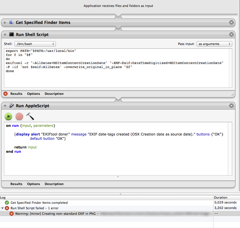 Automator/shell script minor issues | MacRumors Forums