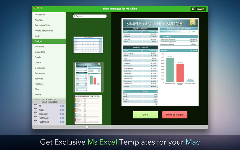 excel template files