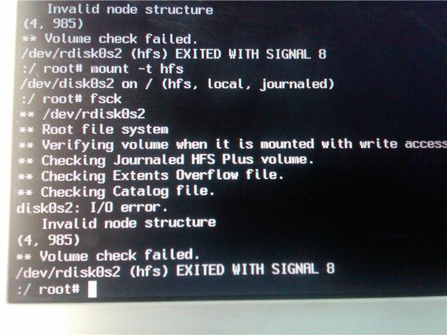 Macbook Doesnt Boot Disk0s2 I O Error Invalid Node Structure