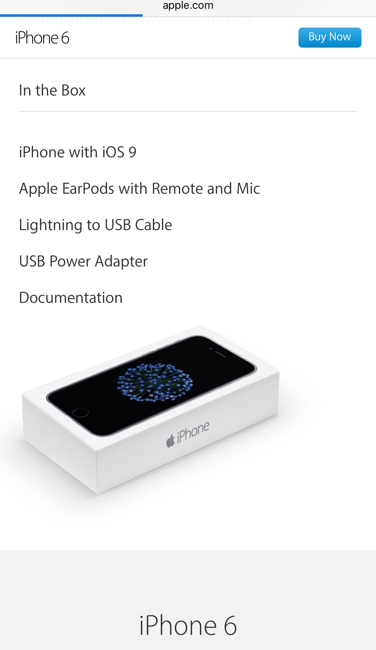 Refreshed iPhone 6/6 Plus box? | MacRumors Forums