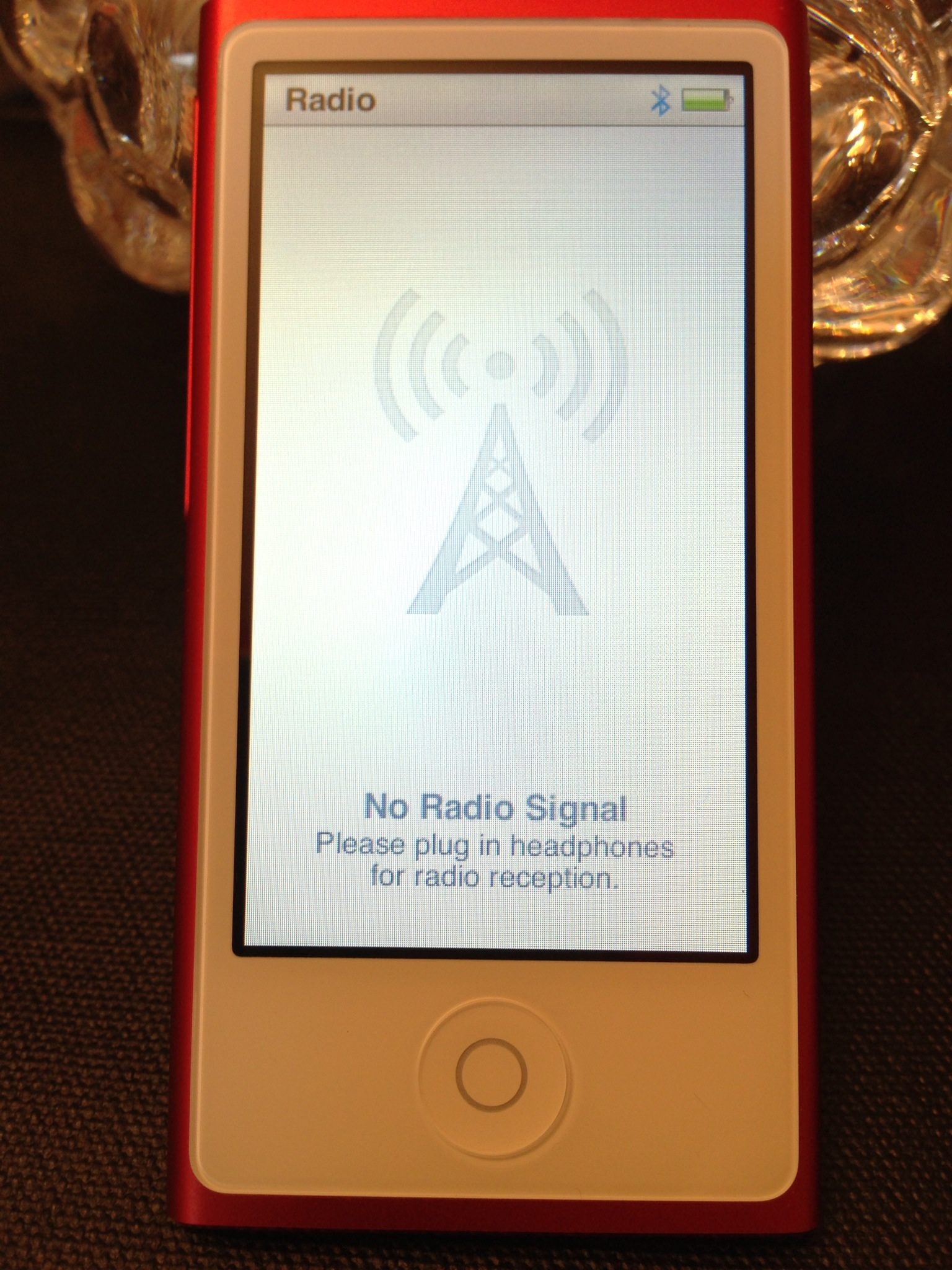 Bluetooth is a dud on the new Apple iPod Nano 7th generation. :-(
