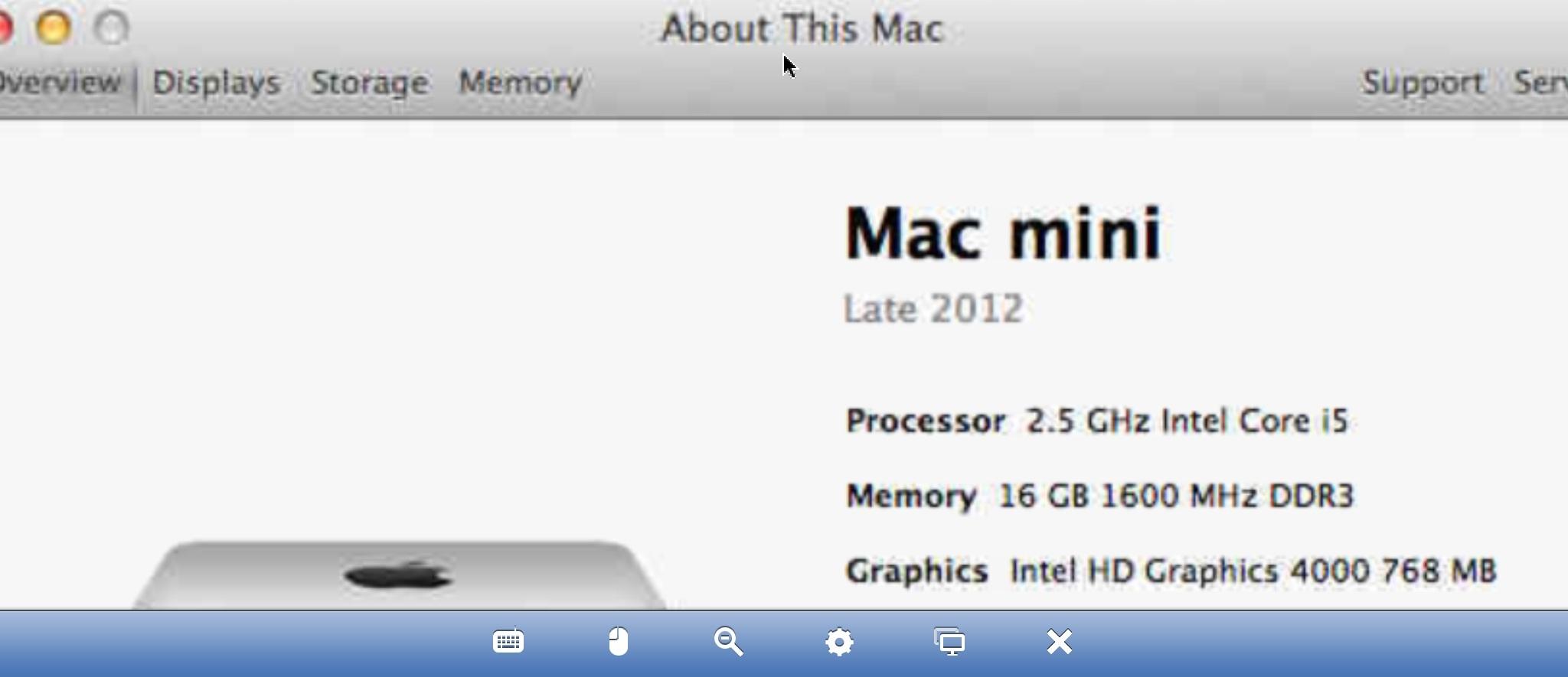 mac mini late 2012 wol