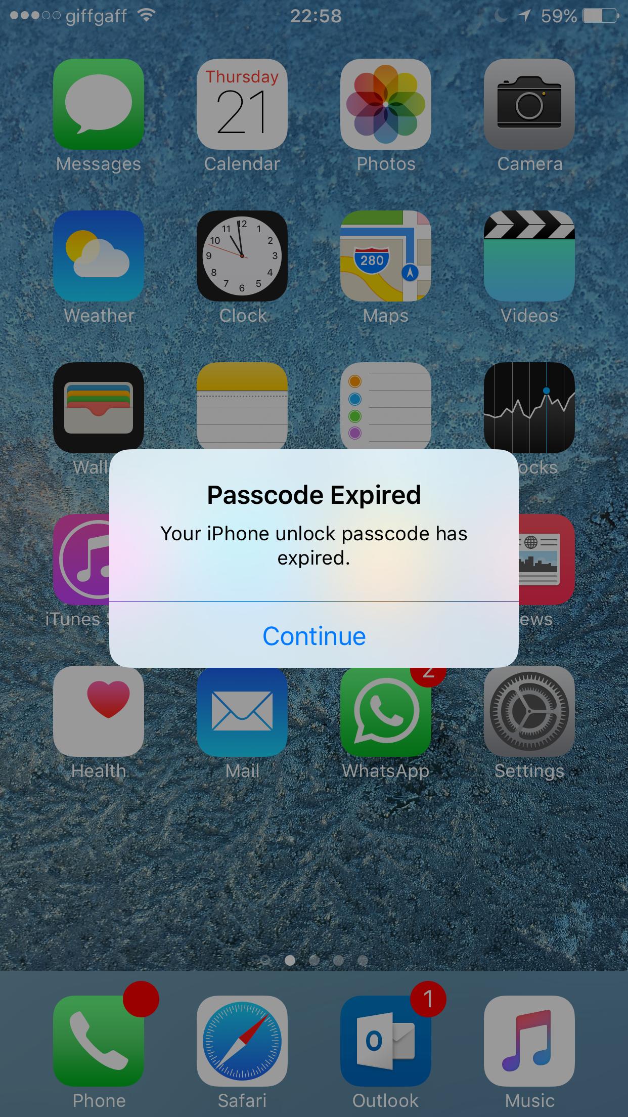 iPhone - Password expired?! | MacRumors Forums
