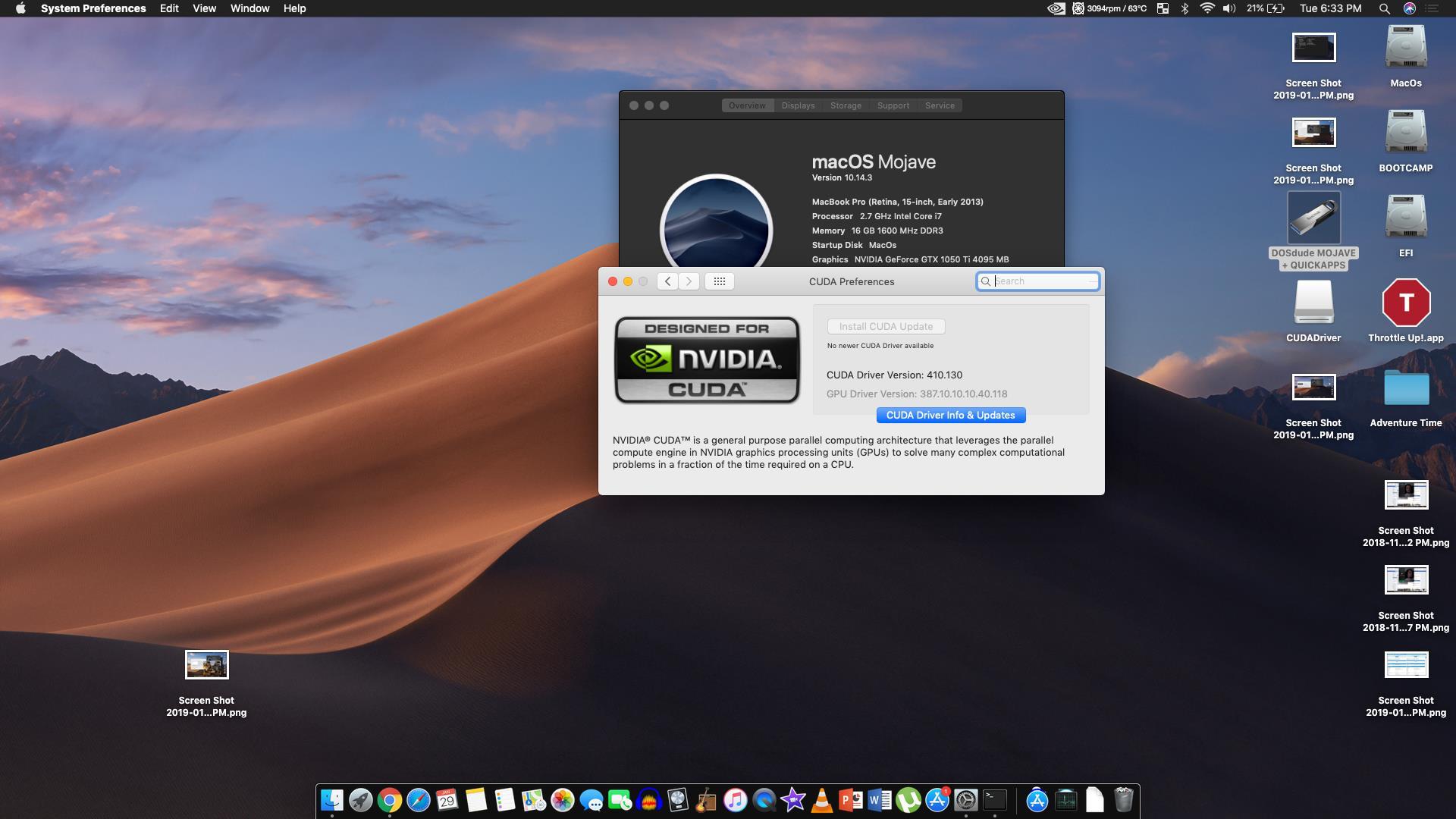 Nvidia GT 120 running Mojave | MacRumors Forums