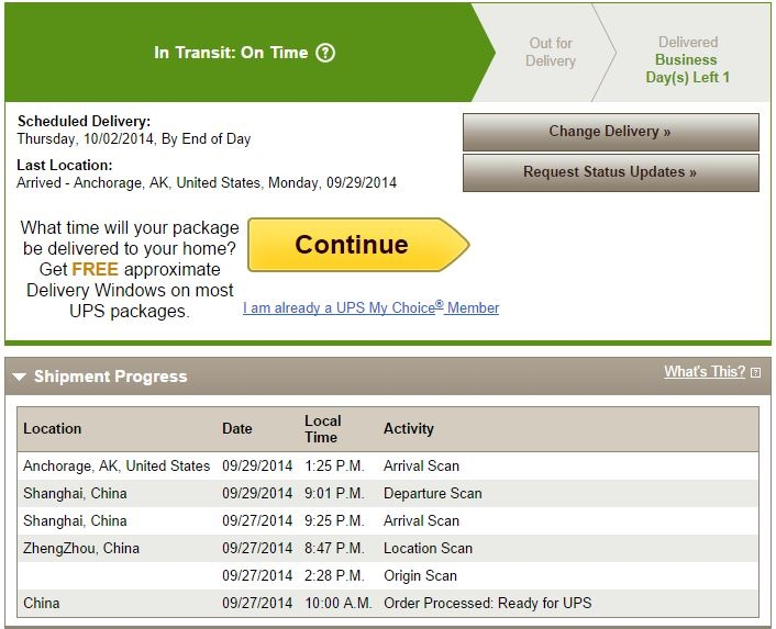 Ups not updating tracking information