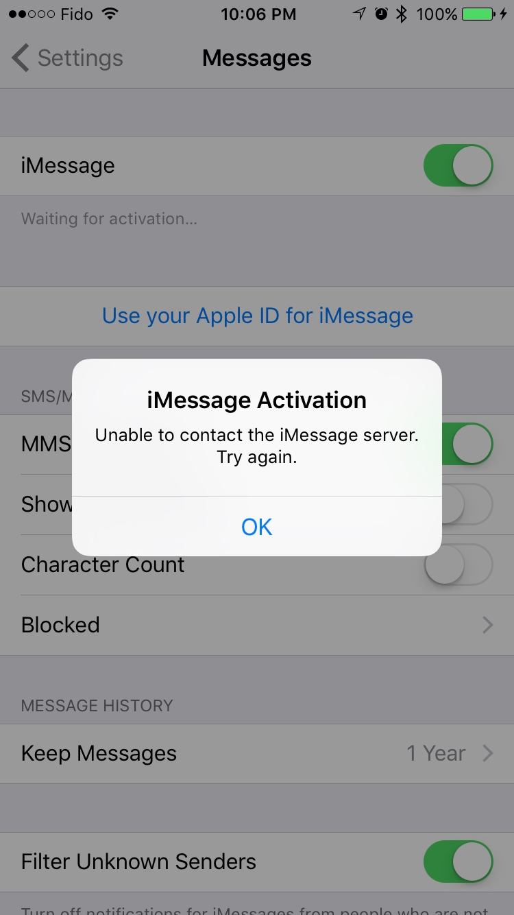 iOS 9 on iPhone 6: iMessage and FaceTime Activation Problem