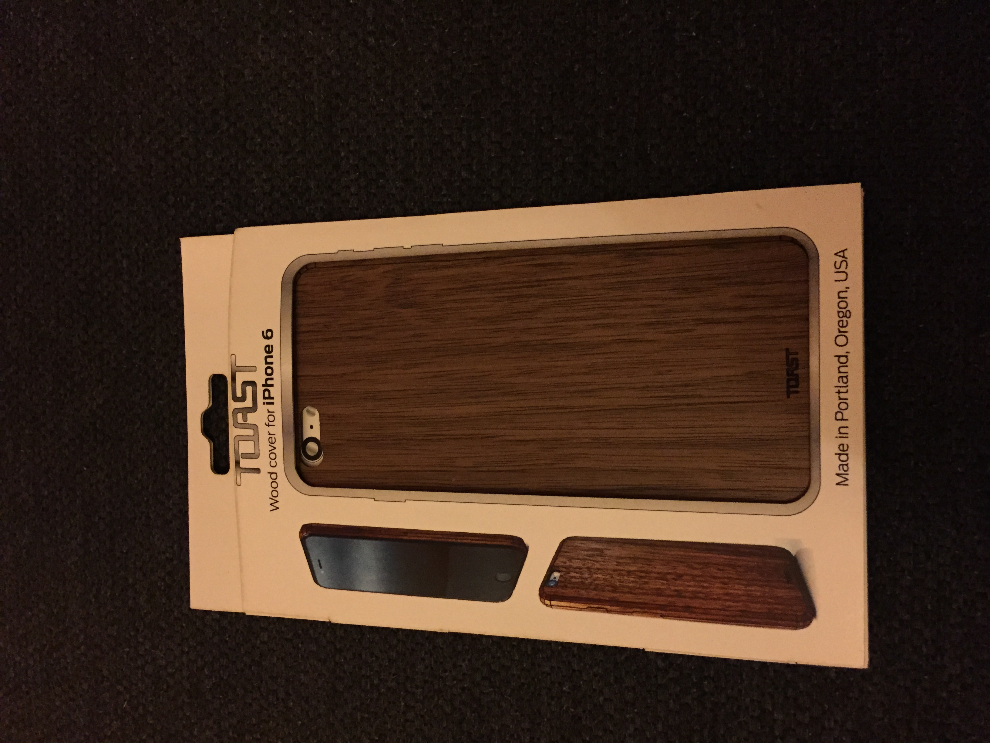 TOAST Real Wood Covers for iPhone Made in USA